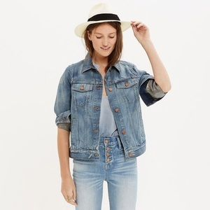 Madewell Ellery jean jacket light distressed XXS